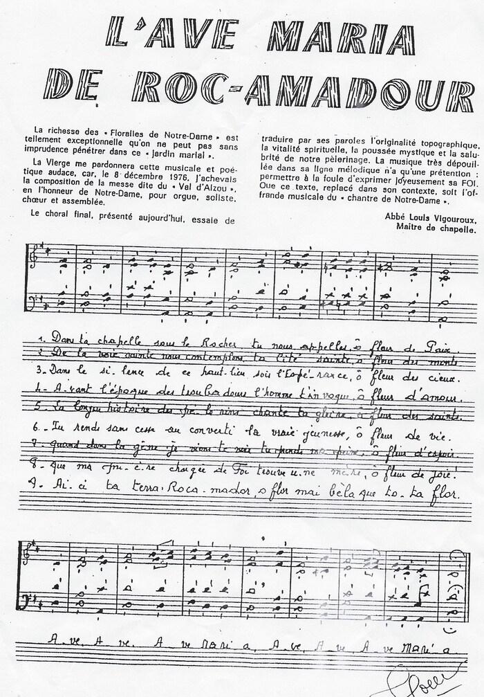 Ave Maria de Rocamadour