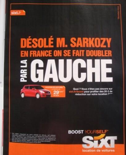 publicité politique Sarkozy 2 mai