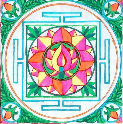 mandala fleur de lotus