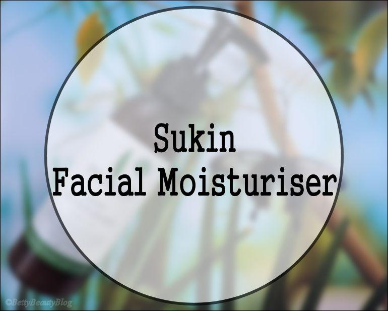 Sukin facial moisturiser