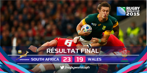 Rugby-Coupe du monde : l'Afrique du Sud en demi-finale ...