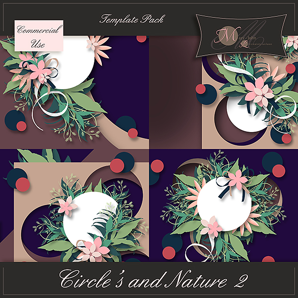 "Templates ""Circle's and Nature 2"" by Let Creativity Run Loose"