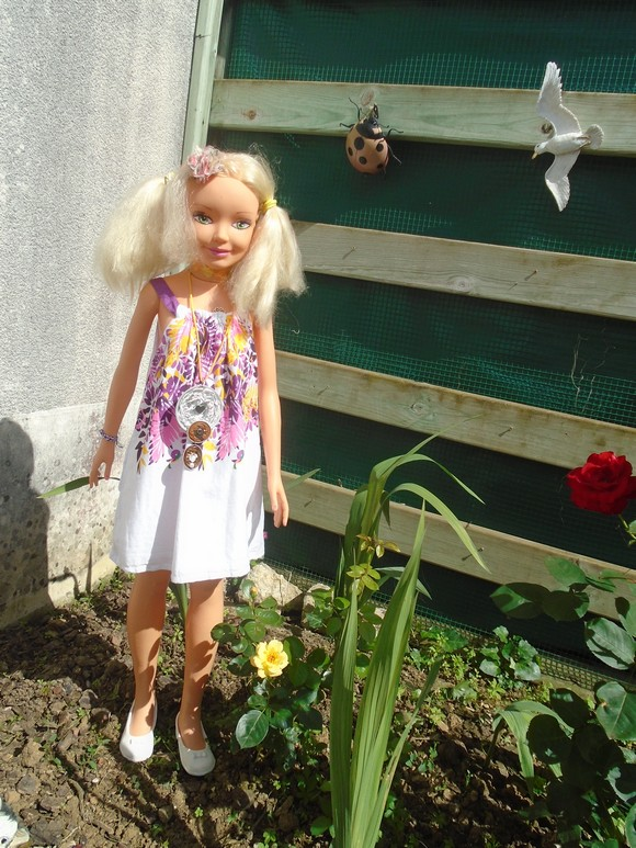 Sabine au jardin