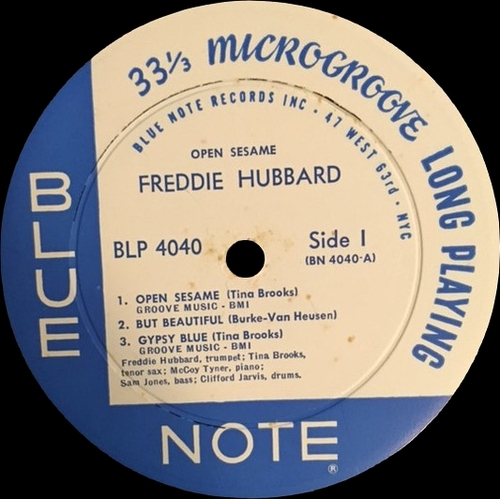 "Freddie Hubbard : Album "" Open Sesame "" Blue Note Records BST 84040 [ US ]"