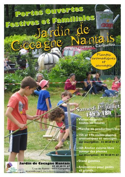 Porte Ouverte du jardin samedi 1er juillet 17