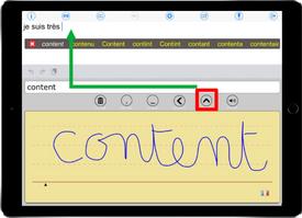 Transformer l'écriture au doigt ou au stylet en messages vocaux avec HandySpeech (IOS)