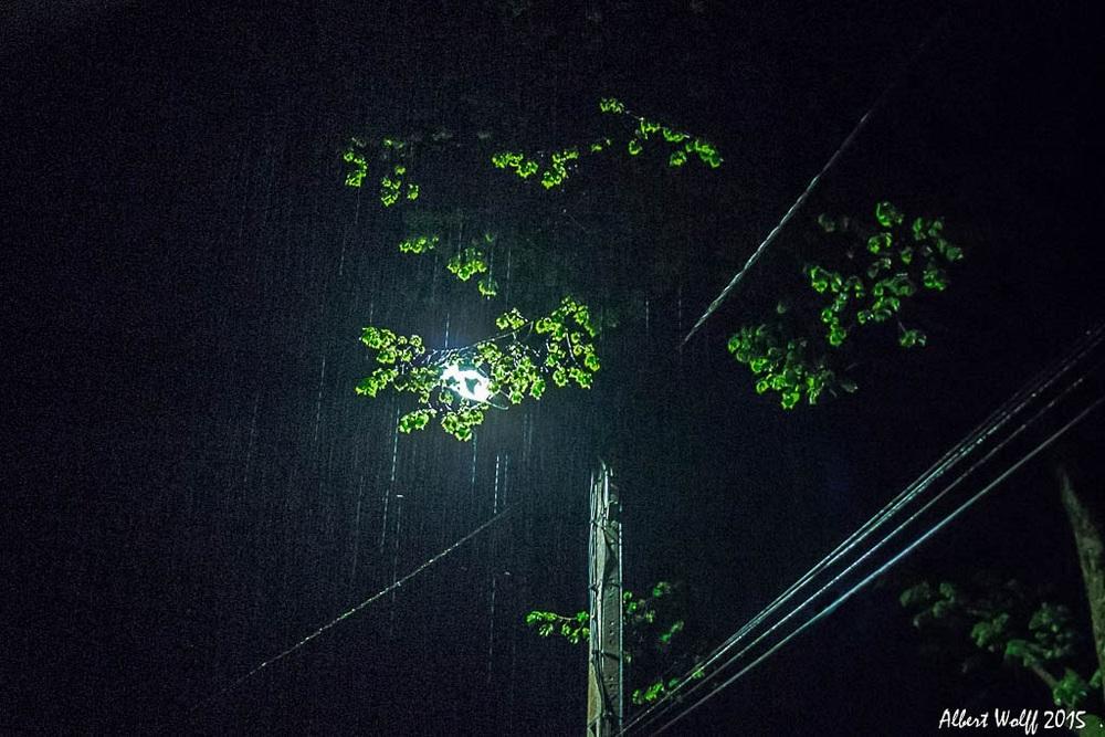 Dans la lumière, la  pluie ...