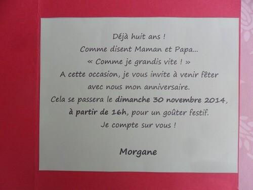 Un peu de carterie : des invitations !