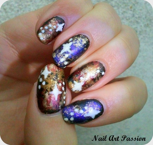 Galactique nail art !
