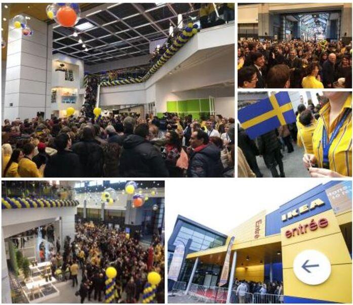 Ouverture IKEA , le bonheur est dans les  grands prés  de Mons