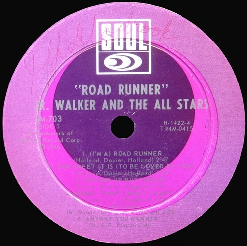 "Jr. Walker & The All Stars : Album "" Road Runner "" Soul Records SS 703 [ US ]"