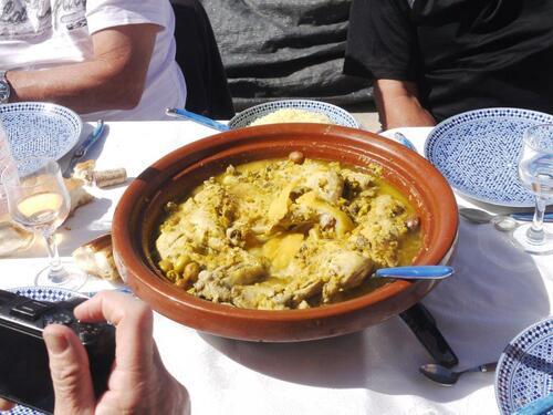 Tajine poulet aux citrons et olives
