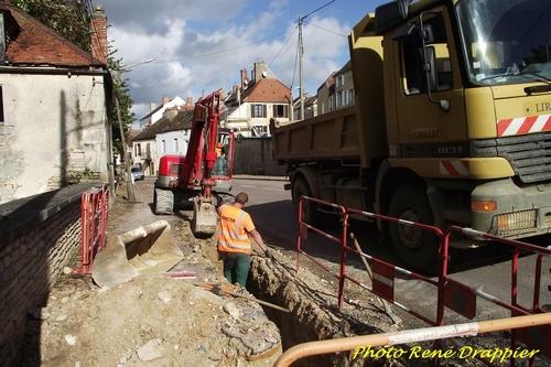 Les travaux dans la ville de Châtillon sur Seine, et à l'extérieur, vus par René Drappier...