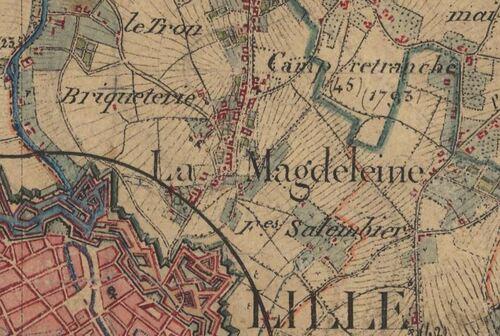 La Madeleine - Carte de l'état-major 1820-1866 (geoportail.gouv.fr)