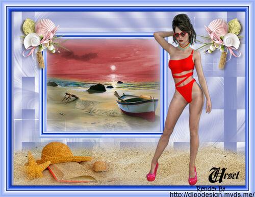 Ein sonniger Tag am Meer