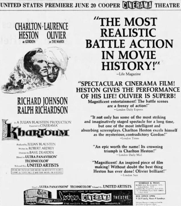 KHARTOUM box office usa 1966