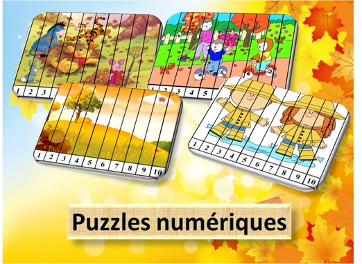 MATERNELLE-NUMERATION-puzzles numériques-automne