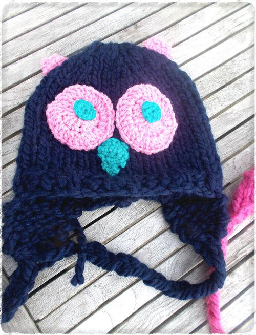 DIY: mamie a des doigts en or #1: les bonnets hiboux ou bonniboux