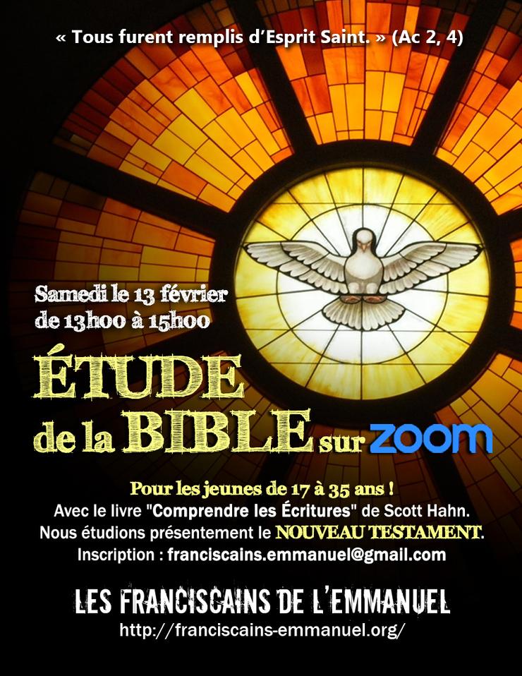 Cours biblique par Zoom le 13 février