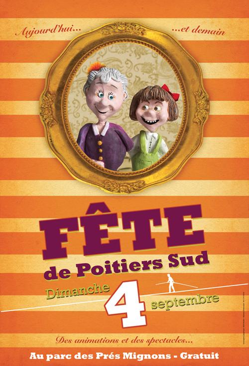 Affiche Fête de Poitiers Sud - Cap Sud