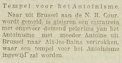 Aix-les-Bains (Utrechtsch Nieuwsblad - 26-08-1924)
