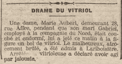 Amour et vitriol