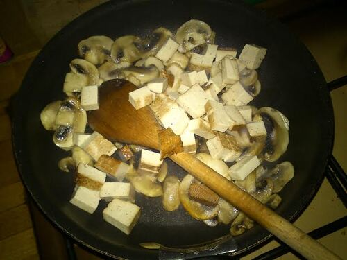 Pâtes façon carbonara végétarienne