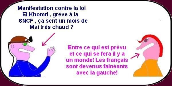 Manif anti-loi La Connerie et grève Senecefe vont nous amuser à la télé ce mercredi...