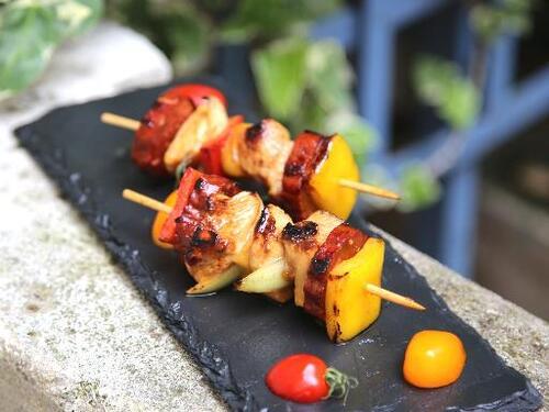 brochettes chorizo et poulet