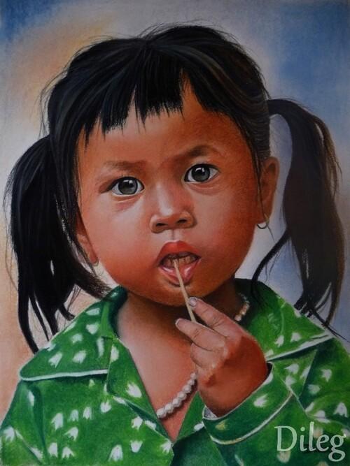 La petite princesse cambodgienne