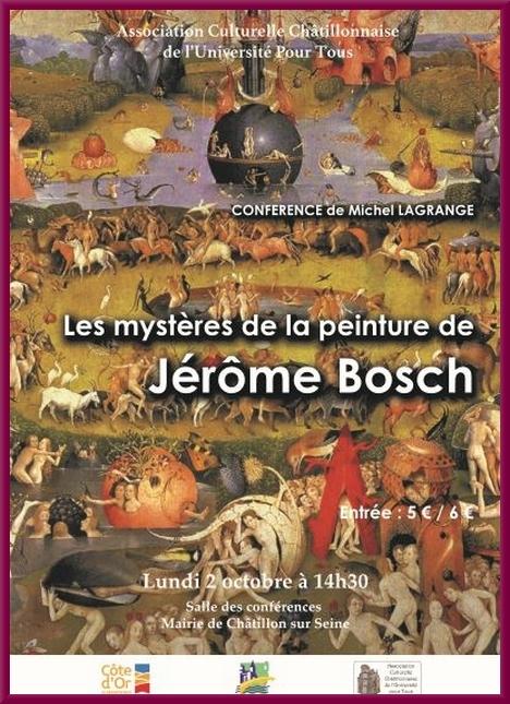 Une superbe conférence sur Jérome Bosch sera présentée par Michel Lagrange pour l'A.C.C.