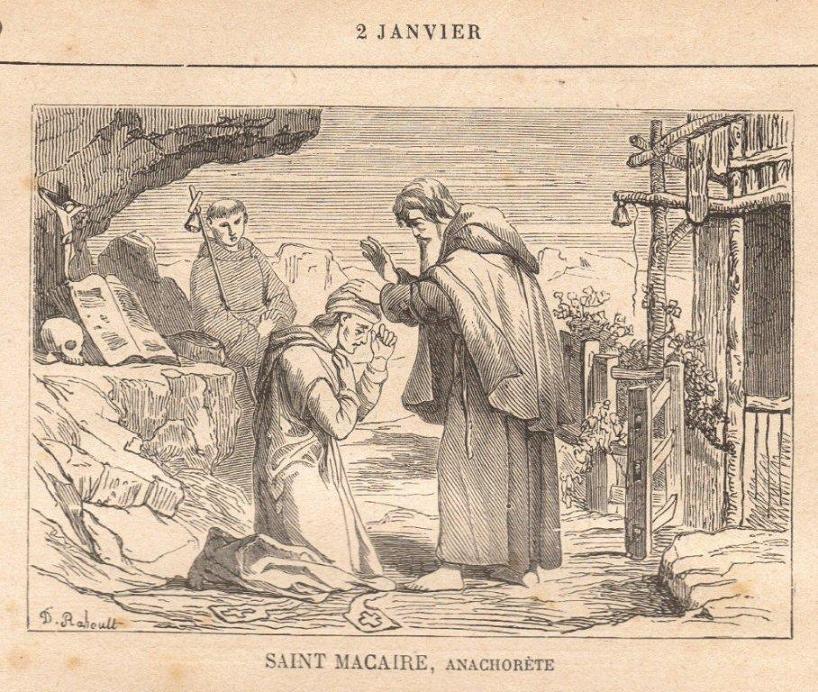 Saint Macaire, Ermite en Egypte († 395)