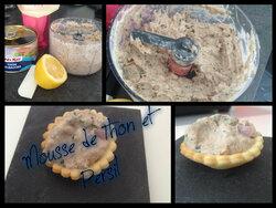 mousse de thon et persil