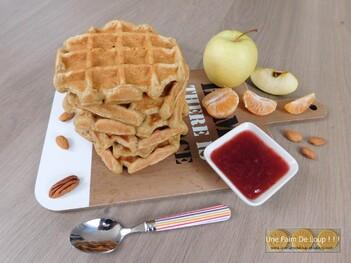 Gaufres vegan aux pommes râpées