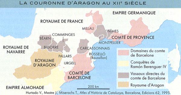La Catalogne au XIIe siècle, Atlas historique de la Catalogne, 2010, avec l'aimable autorisation des éditions Autrement