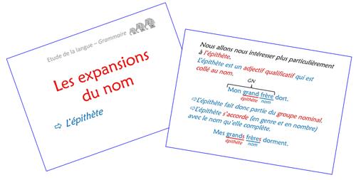 Les expansions du nom - Diaporamas