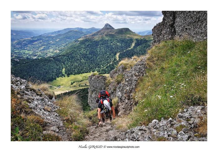 Du Puy Griou au Téton de Vénus entre GR400 et le St Jacques!