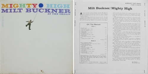 MILT BUCKNER - MIGHTY HIGH - ARGO LP-660  © 1960