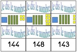 Jeu des paires: association cdu/nombre (100 à 200)