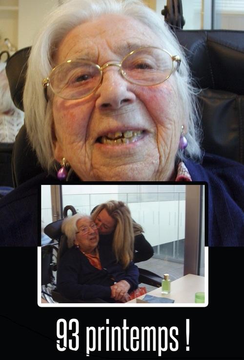 Boucles d'oreilles gouttes pour les 93 printemps de ma grand-mère !