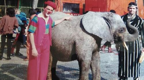 Capuccino au cirque Jean Richard en 1983 ( archives Rodolphe Martin)