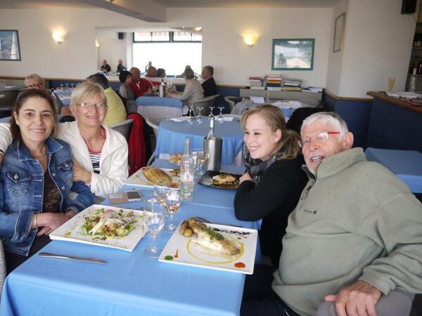 Au restaurant Le Français avec Dahbia et Soraya