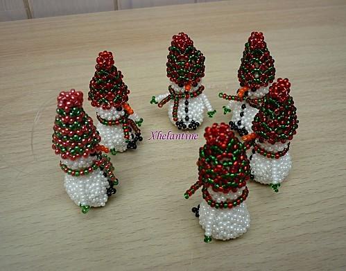 bonhomme de neige rouge et vert groupe 2