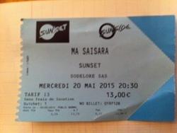 Mes concerts: Ma Saisara, le 20 mai au Sunset-Sunside à Paris