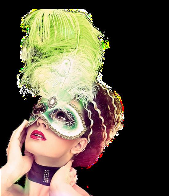Femme,ou visage avec masque