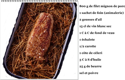 Filet mignon au foin