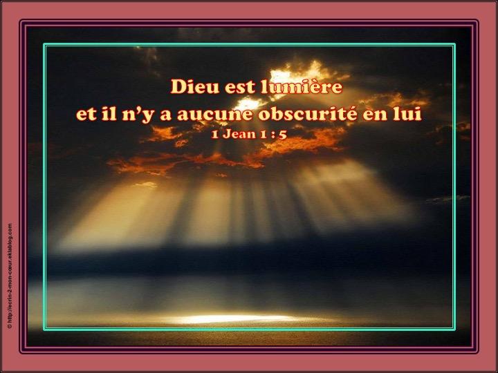 Dieu est lumière - 1 Jean 1 : 5