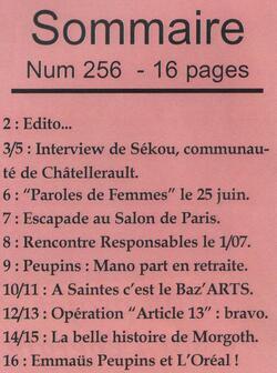 """Le journal """"De bouches à Oreilles"""" en 2015"""