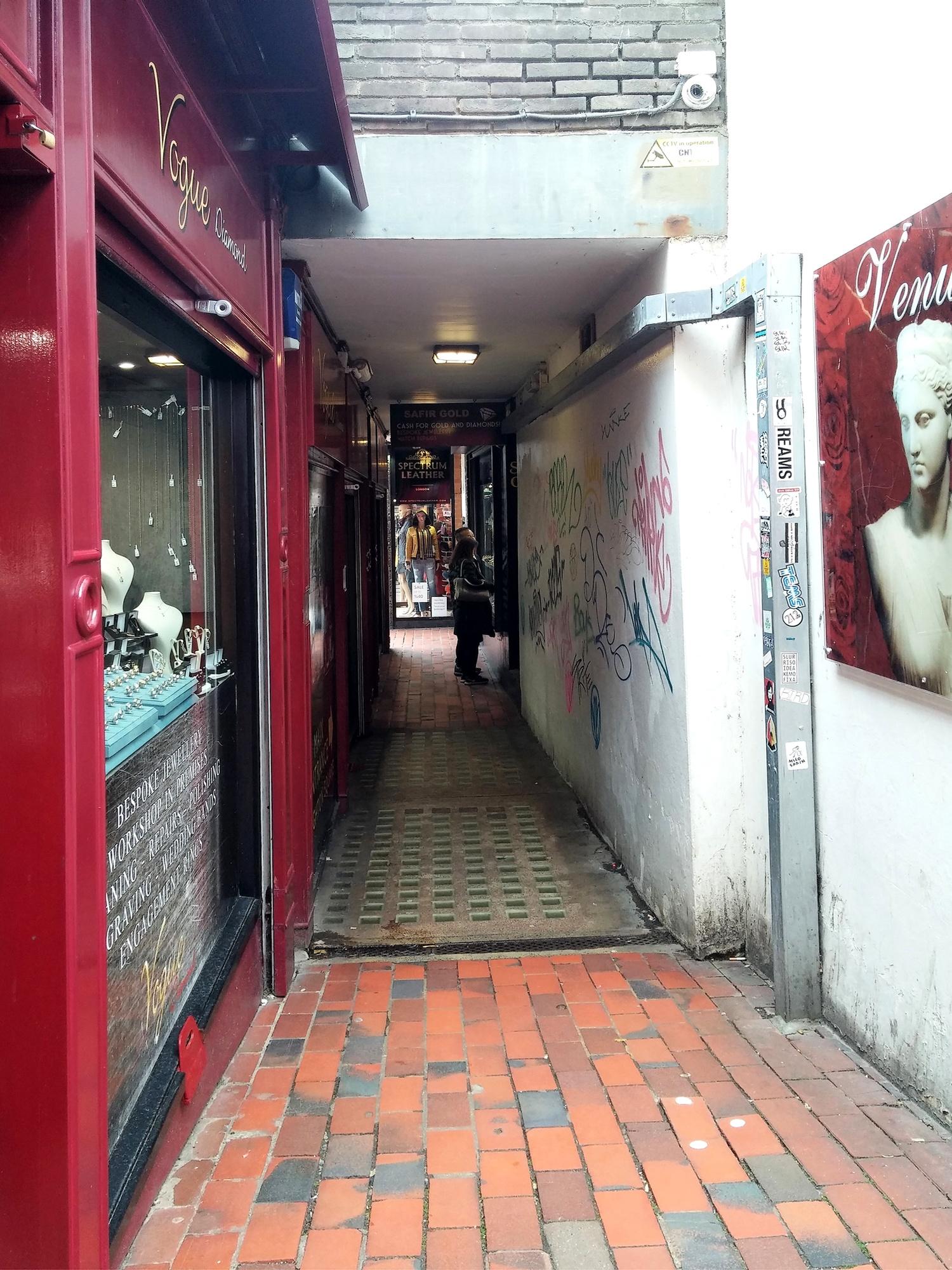 Brighton :  The Lanes et ses étroites ruelles