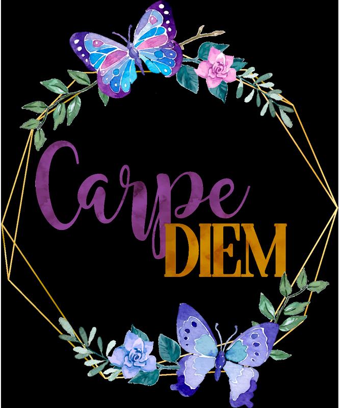 Sticker Motivation Carpe Diem Papillon - TenStickers
